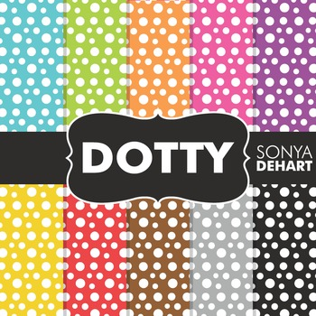 Digital Papers - Dotty Polka Dots Pattern