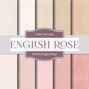 Digital Papers - English Rose Linen (DP443)