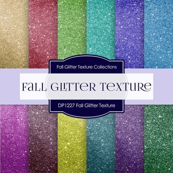 Digital Papers - Fall Glitter Texture (DP1227)