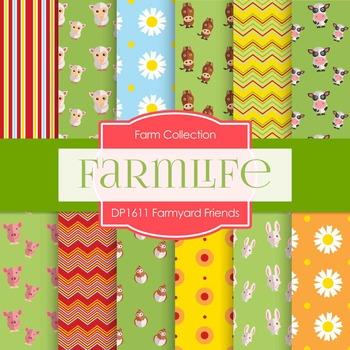 Digital Papers - Farmyard Friends (DP1611)