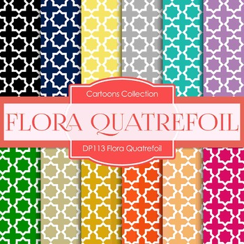 Digital Papers - Flora Quatrefoil (DP113)