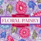Digital Papers - Floral Paisley (DP3613)