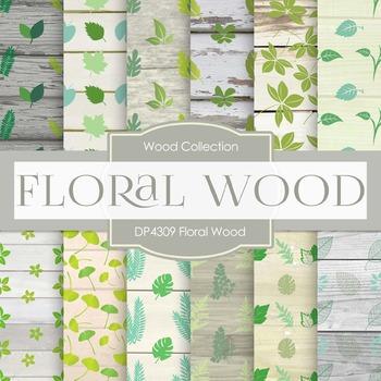 Digital Papers - Floral Wood (DP4309)