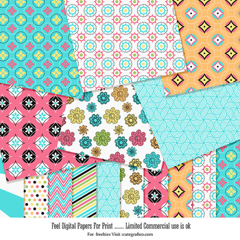 Digital Papers For commercial use Feel Paper Pack - 10 Pri
