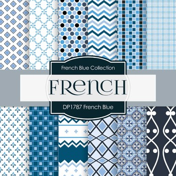 Digital Papers - French Blue (DP1787)