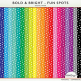 Digital Papers - Fun Spots Polka Dots - Bold and Bright Co