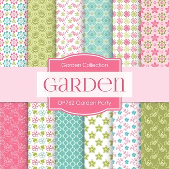 Digital Papers - Garden Party (DP762)