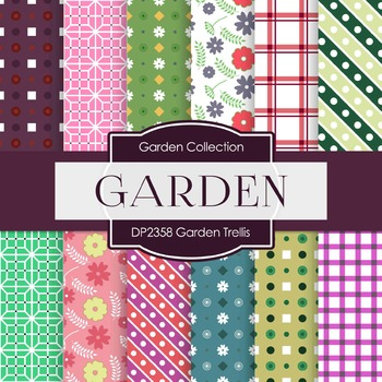 Digital Papers - Garden Trellis (DP2358)