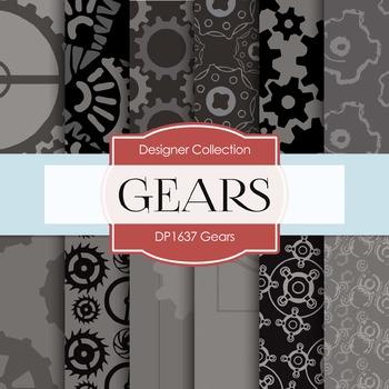 Digital Papers - Gears (DP1637)