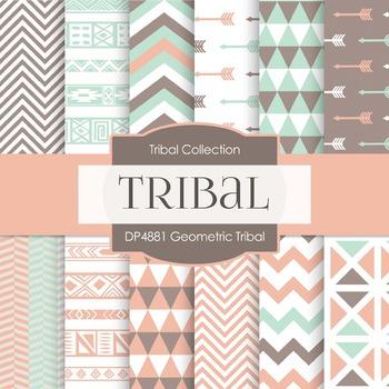 Digital Papers - Geometric Tribal (DP4881)