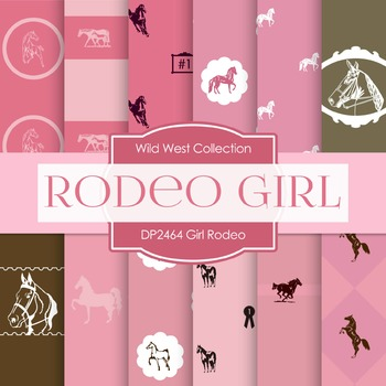 Digital Papers -  Girl Rodeo (DP2464)