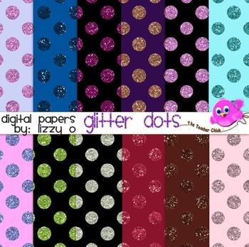 Digital Papers - Glitter Dots