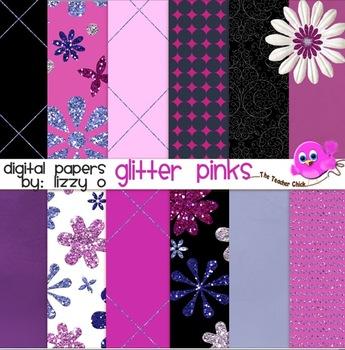 Digital Papers - Glitter Pinks