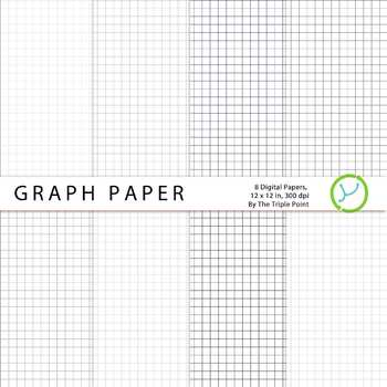 Graph Paper Background: 8 Digital Papers