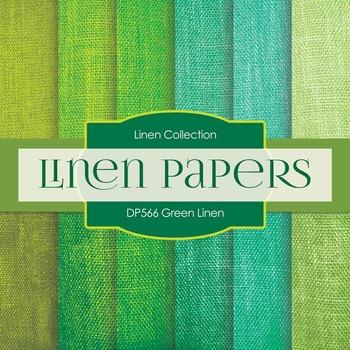 Digital Papers - Green Linen (DP566)