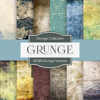 Digital Papers - Grunge Textures  (DP583)