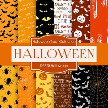 Digital Papers - Halloween (DP828)