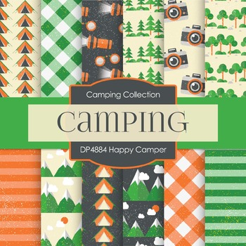 Digital Papers - Happy Camper (DP4884)