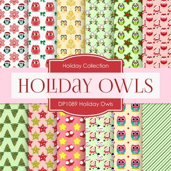 Digital Papers -  Holiday Owls (DP1089)