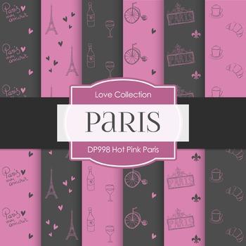 Digital Papers - Hot Pink Paris (DP998)