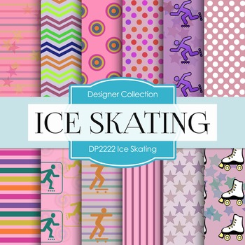 Digital Papers - Ice Skating (DP2222)
