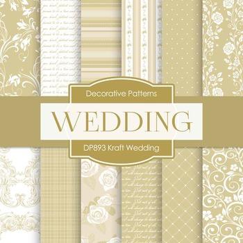 Digital Papers - Kraft Wedding (DP893)