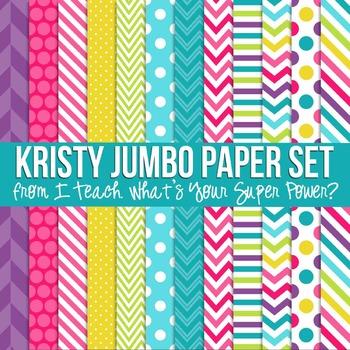 Digital Papers Kristy Jumbo Paper Set
