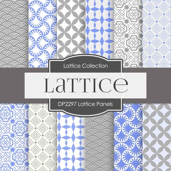Digital Papers - Lattice Panels (DP2297)