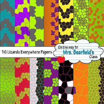 Digital Papers {Lizards Everywhere}