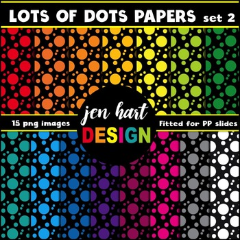 Digital Papers  {Lots of Dots set 2}