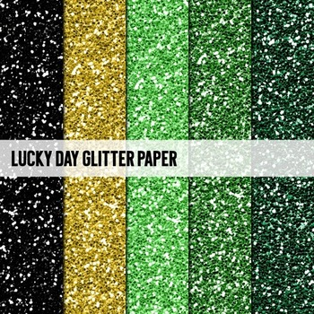 Digital Papers ~Lucky Day~ Glitter Paper {Ink n Little Things}