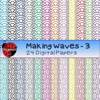 Digital Papers - Making Waves Set 3