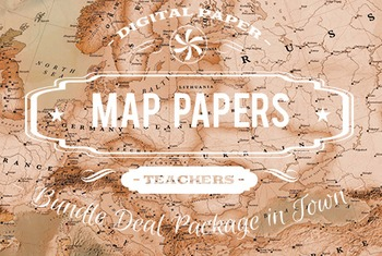 Digital Papers - Maps Patterns Bundle Deal