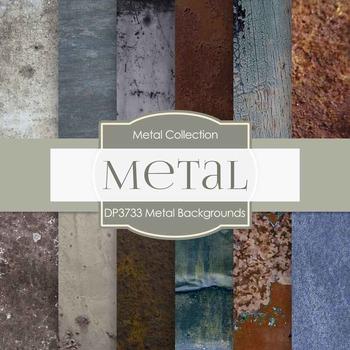 Digital Papers - Metal Backgrounds (DP3733)
