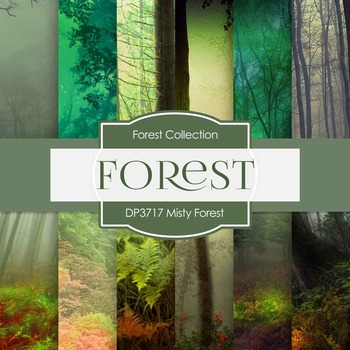 Digital Papers - Misty Forest (DP3717)