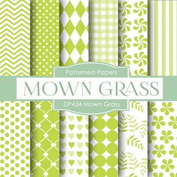 Digital Papers - Mown Grass (DP434)