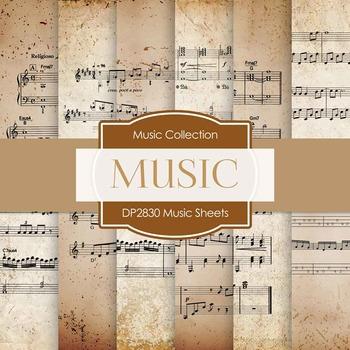 Digital Papers - Music Sheets (DP2830)