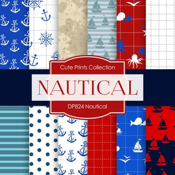 Digital Papers - Nautical (DP824)