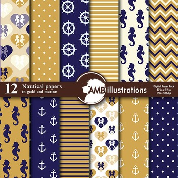 Digital Papers, Nautical papers and backgrounds, Sailing p