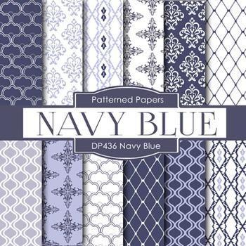 Digital Papers - Navy Blue (DP436)