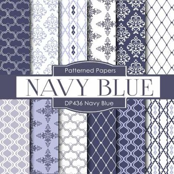 Digital Papers - Navy Blue Designs (DP436)