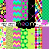 Digital Papers - Neon