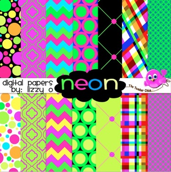 Digital Papers - Neon