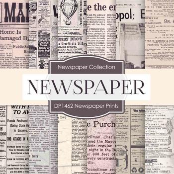 Digital Papers -  Newspaper Prints (DP1462)