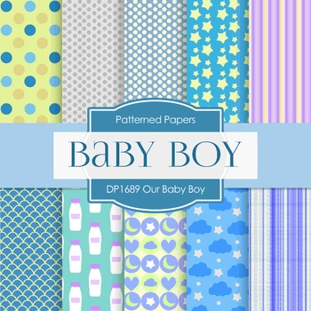 Digital Papers - Our Baby Boy (DP1689)