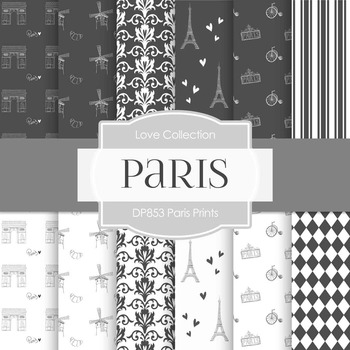 Digital Papers - Paris Prints (DP853)