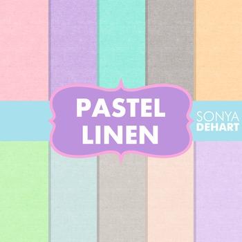 Digital Papers -  Pastel Linen Jute Burlap Fabric Textures FREE