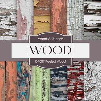 Digital Papers - Peeled Wood A (DP087)