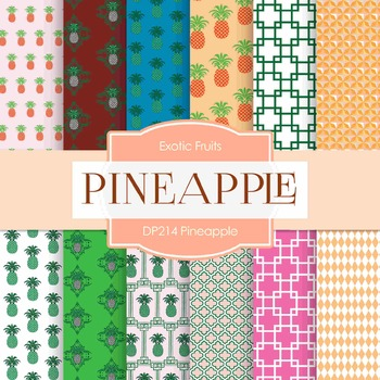 Digital Papers - Pineapple (DP214)