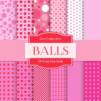 Digital Papers - Pink Balls (DP4166)